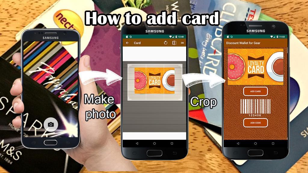 Discount cards wallet for Galaxy watch screenshot