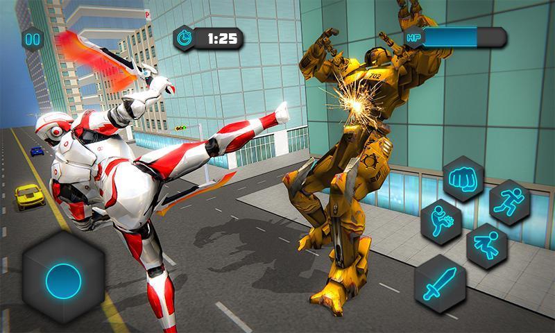 Dual Sword Hero Robot Transforming 3D 1.0.4 Screenshot 1
