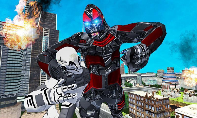Futuristic Robot Transforming Gorilla Attack City 1.0.4 Screenshot 1