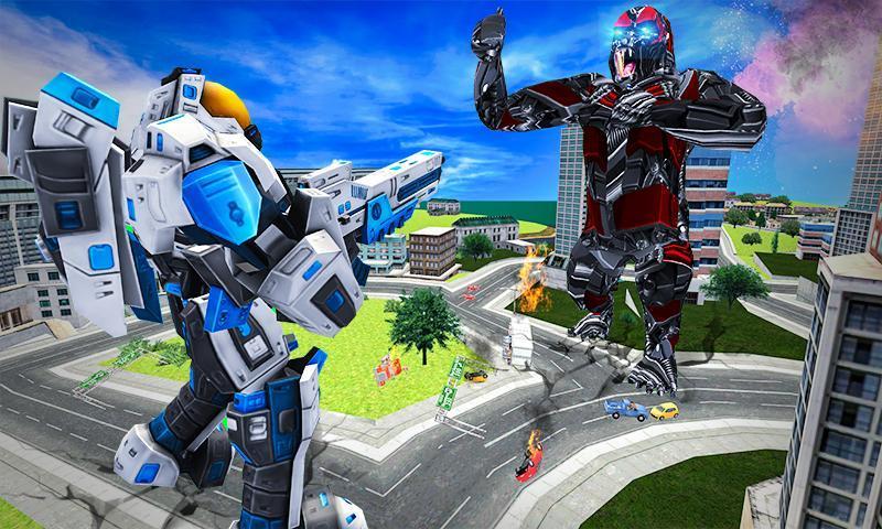 Futuristic Robot Transforming Gorilla Attack City 1.0.4 Screenshot 3