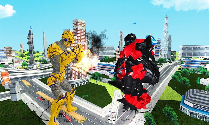 Futuristic Robot Transforming Gorilla Attack City 1.0.4 Screenshot 5