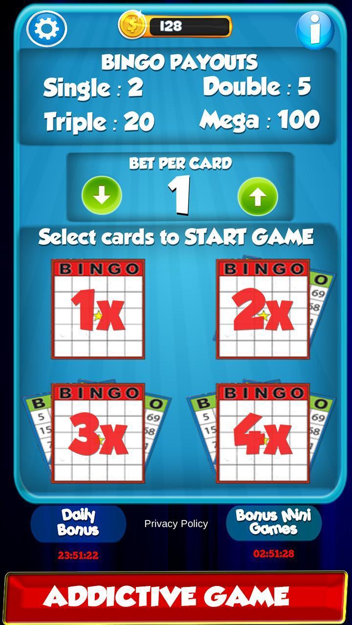 Bingo: New Free Cards Game Vegas and Casino Feel 2.1 Screenshot 2
