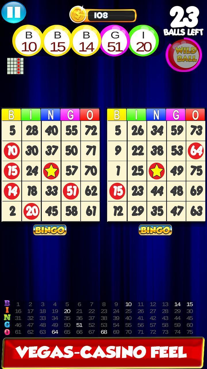 Bingo: New Free Cards Game Vegas and Casino Feel 2.1 Screenshot 4