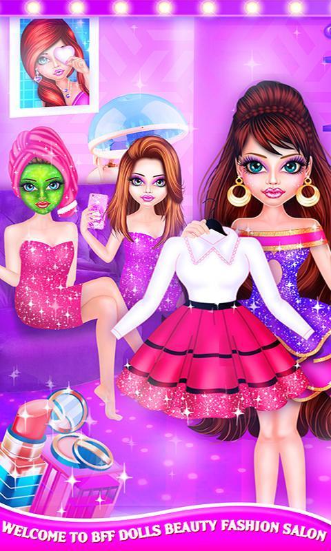 BFF Dolls : Beauty Contest Fashion Salon makeover 2.1 Screenshot 15