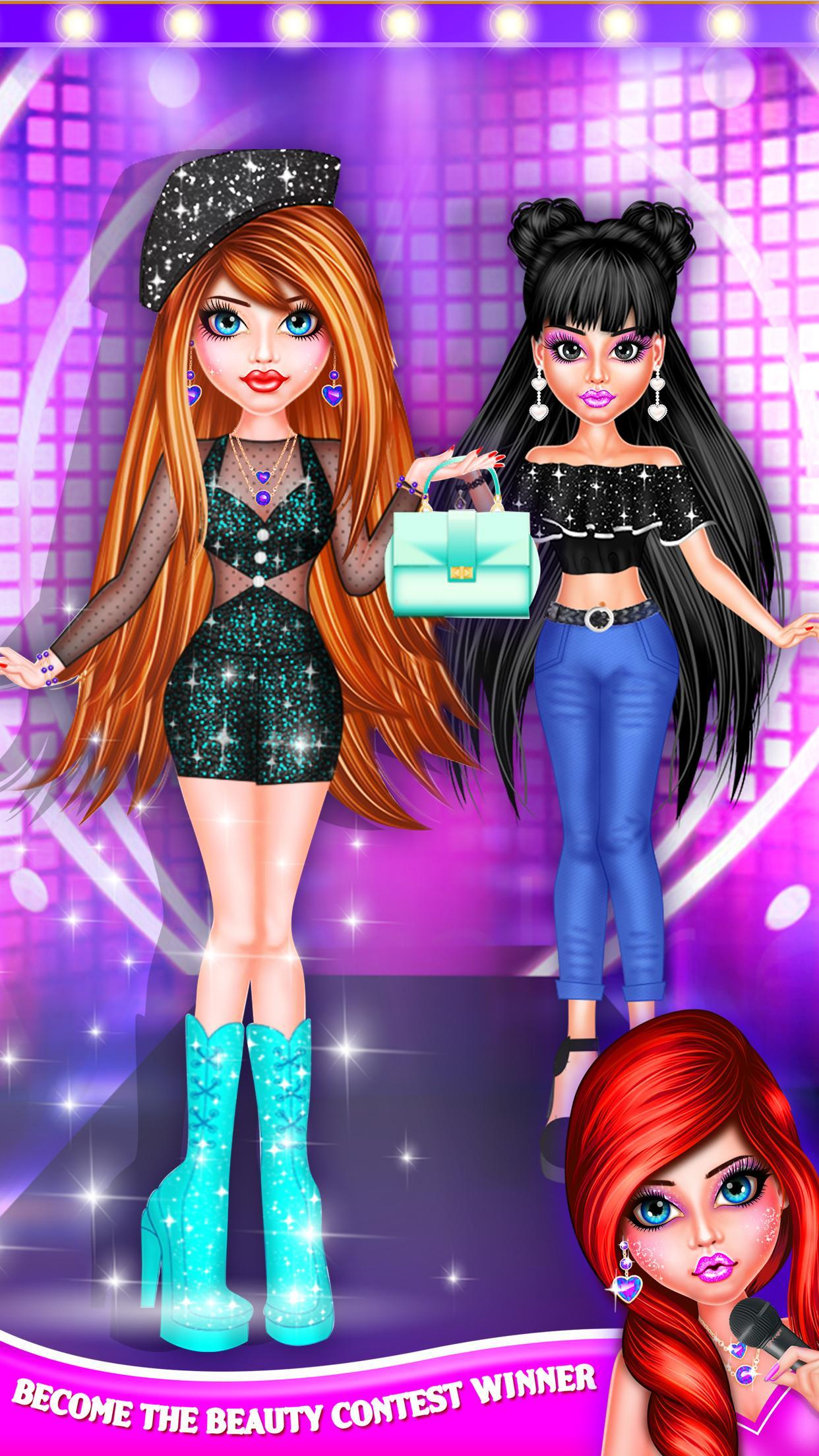 BFF Dolls : Beauty Contest Fashion Salon makeover 2.1 Screenshot 3