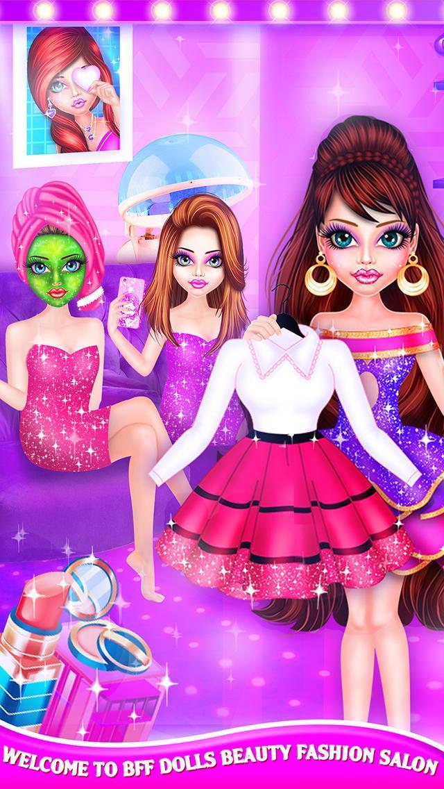 BFF Dolls : Beauty Contest Fashion Salon makeover 2.1 Screenshot 8