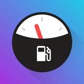 Fuelio gas log, costs, car management, GPS routes app icon