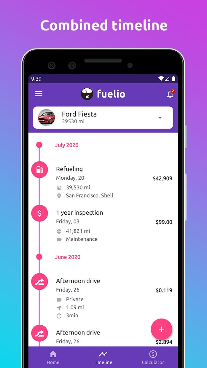 Fuelio gas log, costs, car management, GPS routes 7.6.15 Screenshot 2