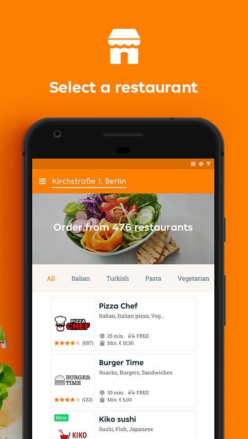 Lieferando.de - Order Food 6.22.0 Screenshot 2