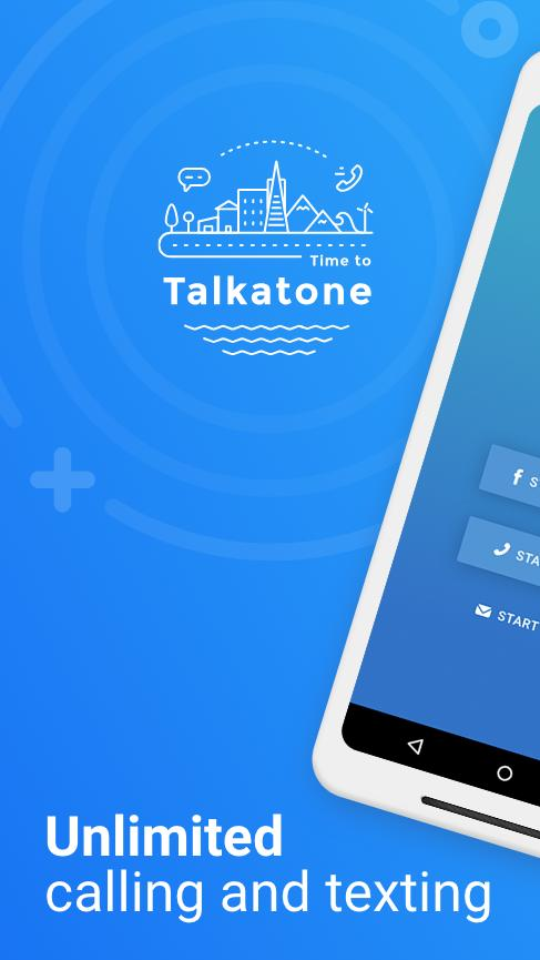 Talkatone Free Texts, Calls & Phone Number 6.4.2 Screenshot 1