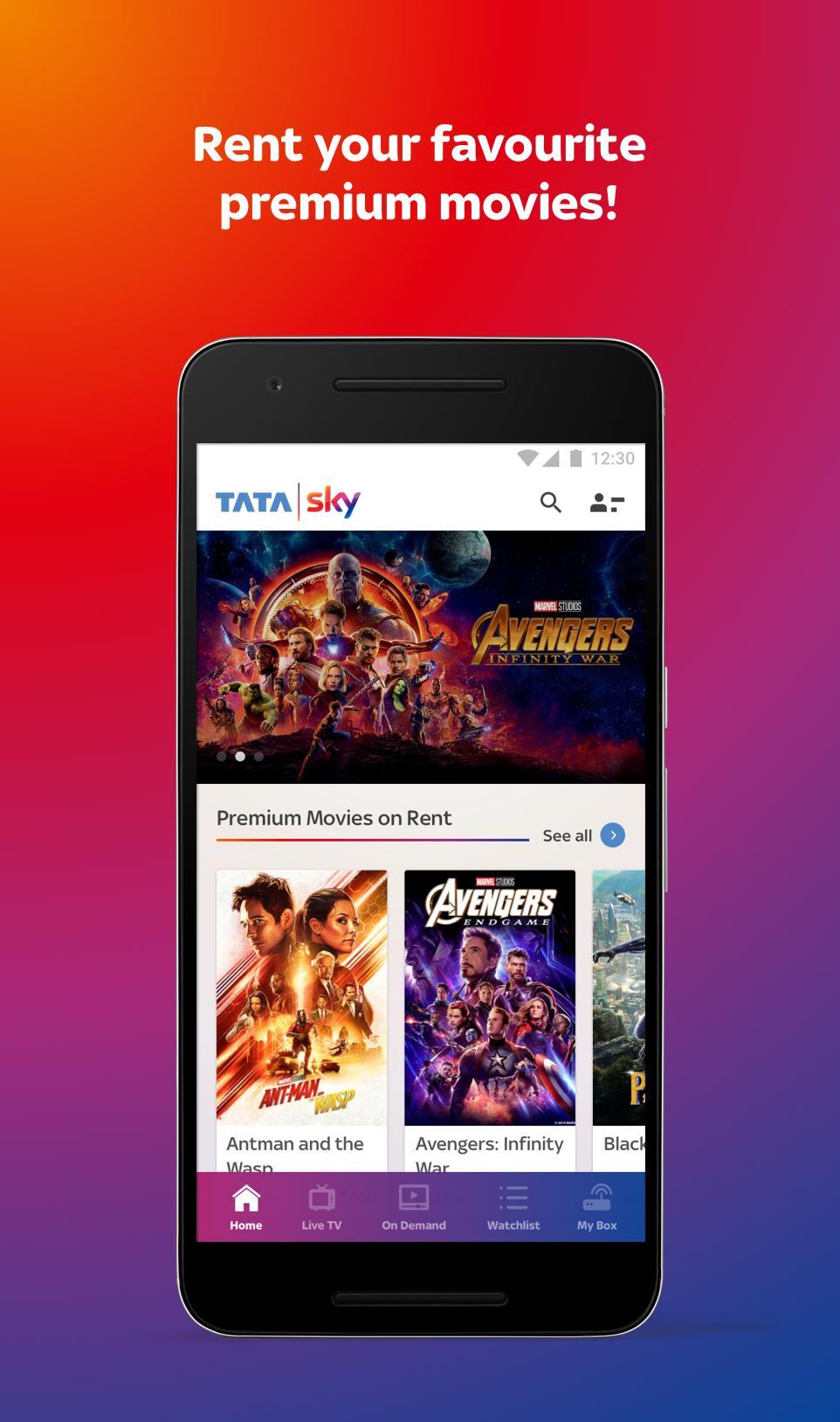 Tata Sky Mobile- Live TV, Movies, Sports, Recharge 9.9 Screenshot 1