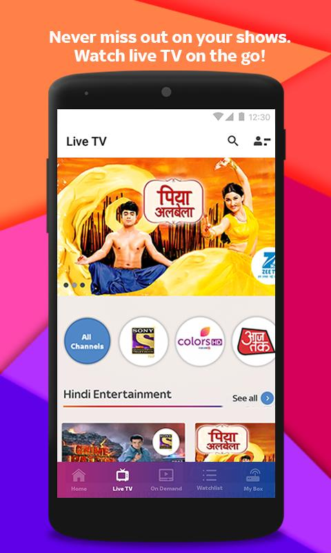 Tata Sky Mobile- Live TV, Movies, Sports, Recharge 9.9 Screenshot 2