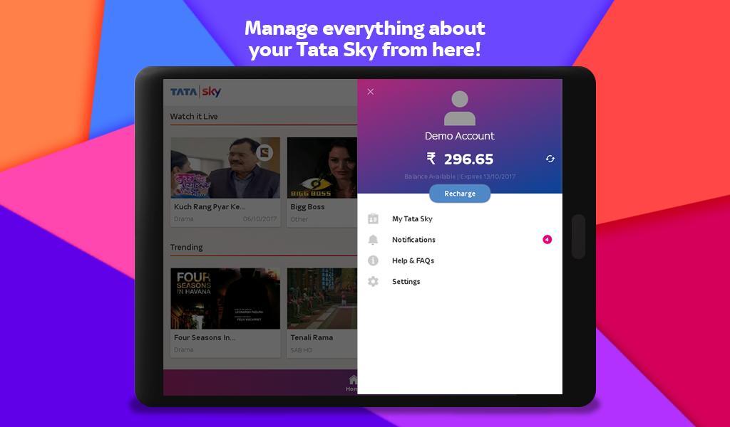 Tata Sky Mobile- Live TV, Movies, Sports, Recharge 9.9 Screenshot 21