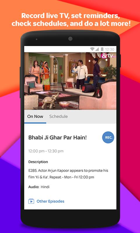 Tata Sky Mobile- Live TV, Movies, Sports, Recharge 9.9 Screenshot 4