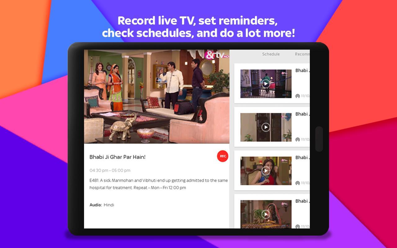 Tata Sky Mobile- Live TV, Movies, Sports, Recharge 9.9 Screenshot 9