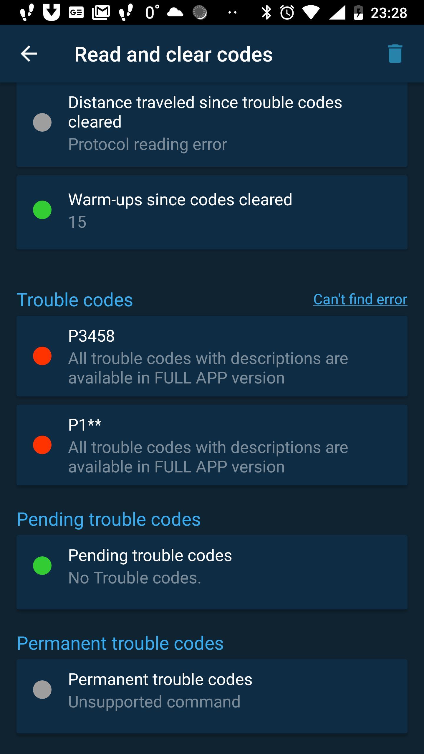 Obd Mary – OBD2 car scanner & dashboard on ELM327 1.128 Screenshot 3
