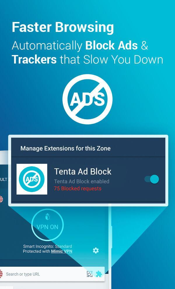 Tenta Private VPN Browser + Ad Blocker (Beta) 3.1.2 Screenshot 2