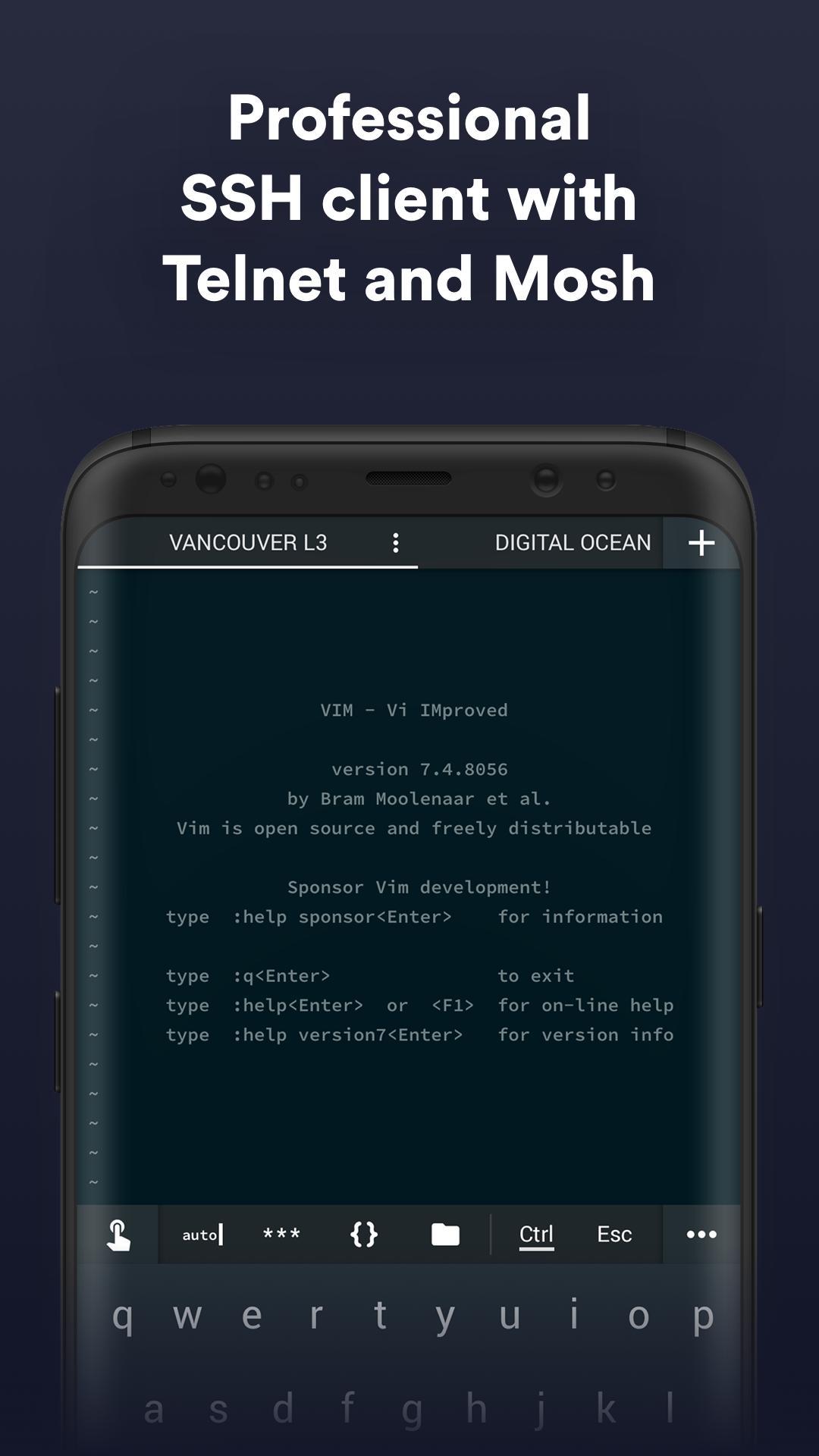 Termius SSH/SFTP and Telnet client 4.4.14 Screenshot 1