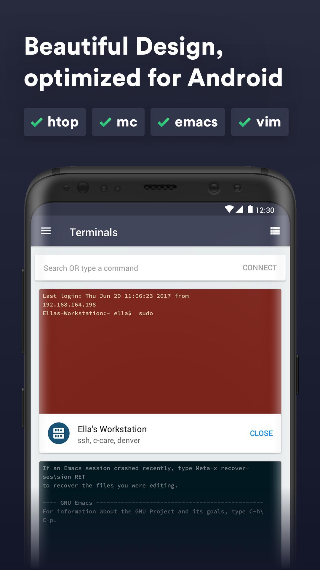 Termius SSH/SFTP and Telnet client 4.4.14 Screenshot 2