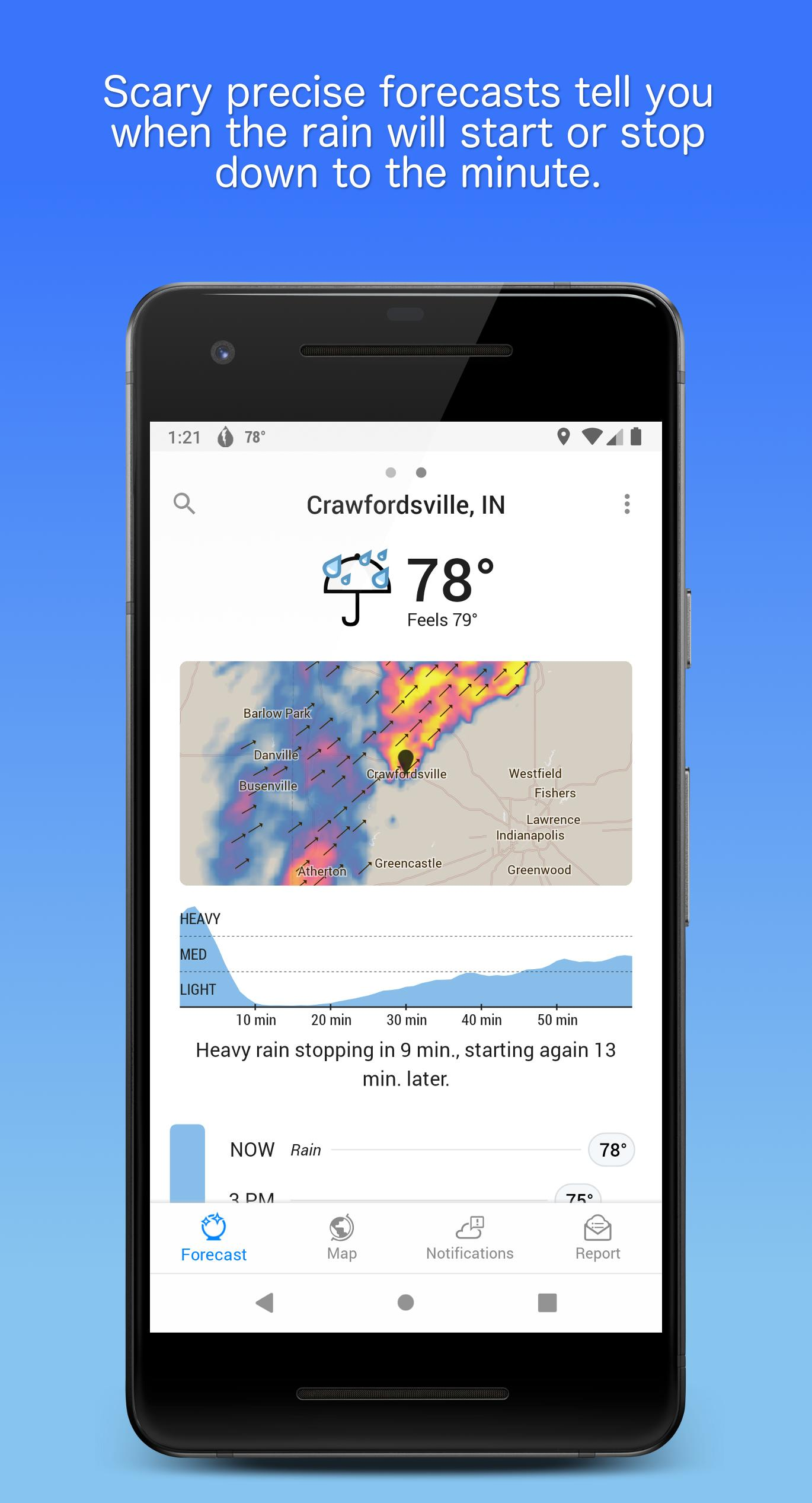 Dark Sky Hyperlocal Weather 3.0.0 Screenshot 1
