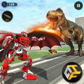 Wild Dinosaur Rampage : Flying Robot Shooting Game app icon