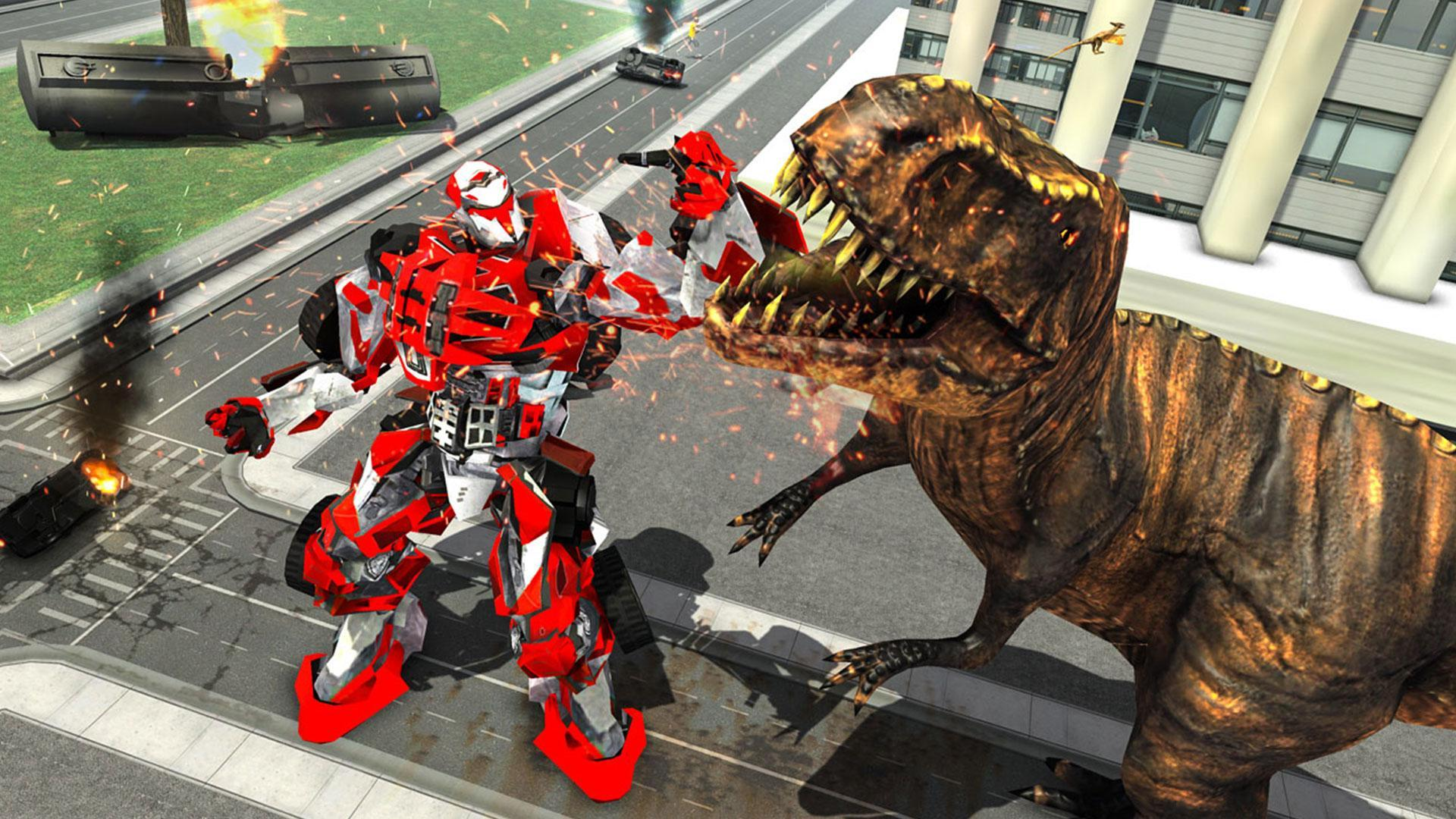 Wild Dinosaur Rampage : Flying Robot Shooting Game 2.3 Screenshot 9