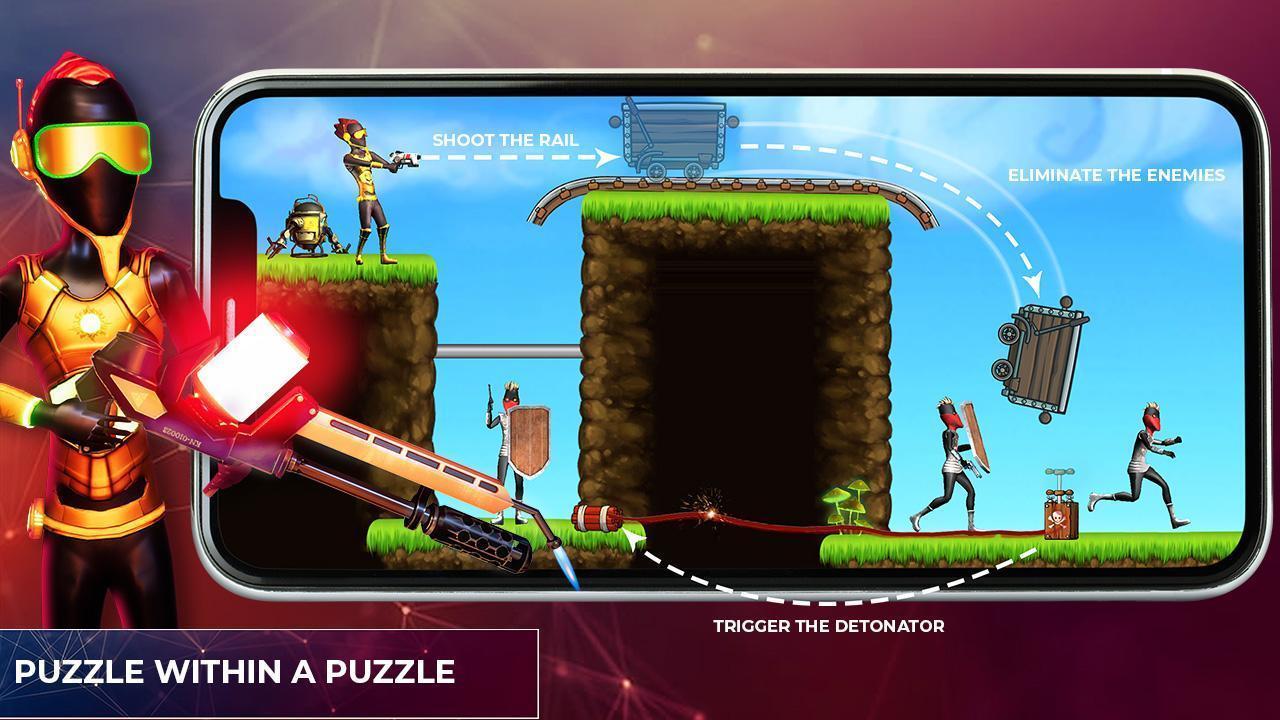 Mr Shooter Offline Game -Puzzle Adventure New Game 1.28 Screenshot 14