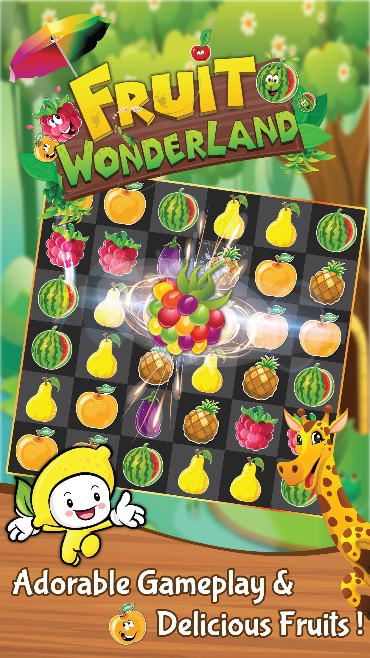 Match 3 Fruit Wonderland Puzzle - Jungle Adventure 1.101 Screenshot 1