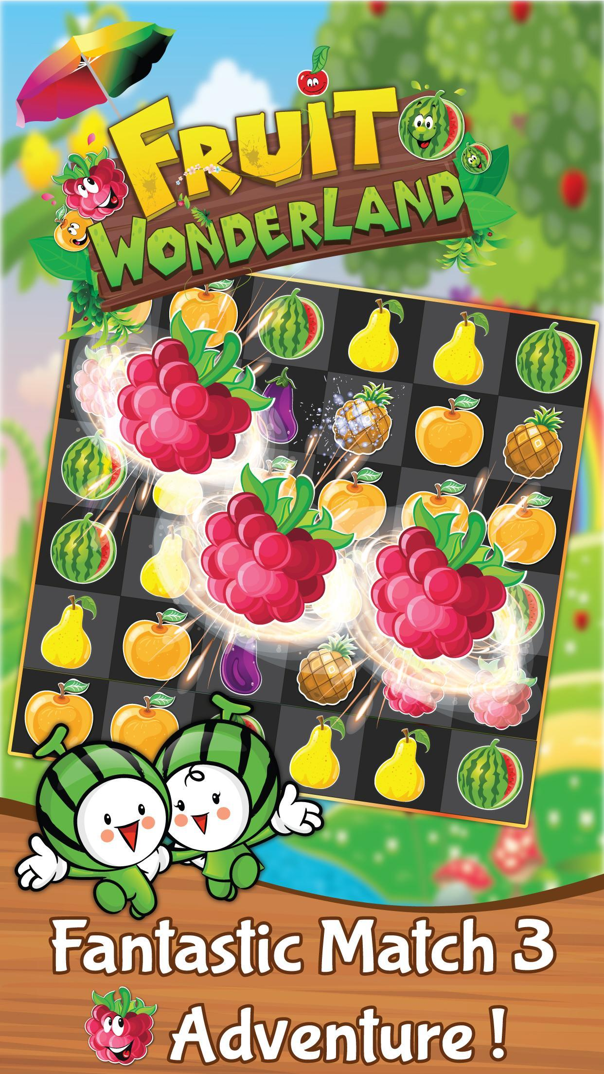 Match 3 Fruit Wonderland Puzzle - Jungle Adventure 1.101 Screenshot 3