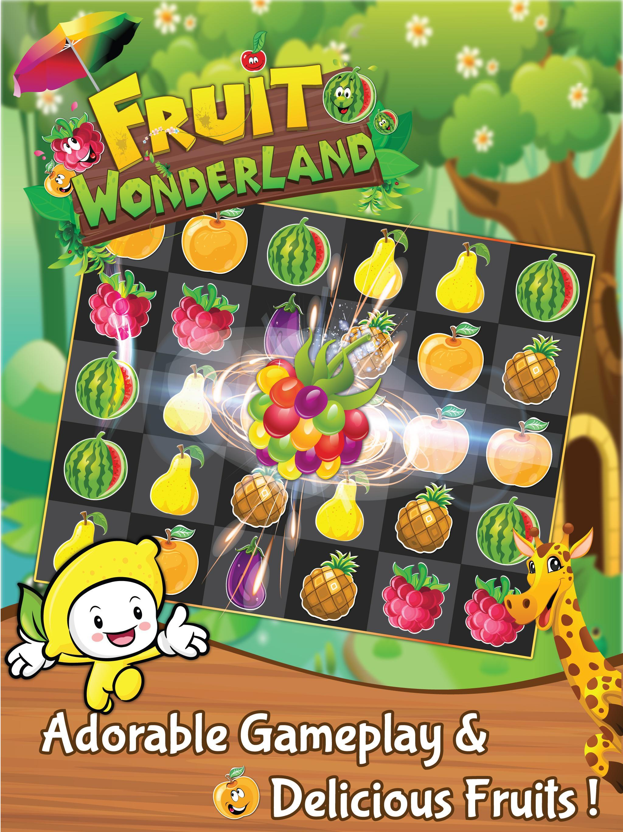 Match 3 Fruit Wonderland Puzzle - Jungle Adventure 1.101 Screenshot 4