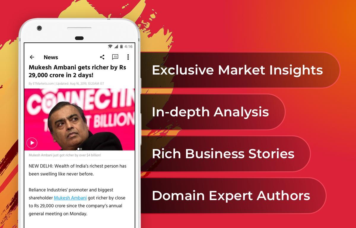 The Economic Times: Sensex, Market & Business News 3.8.3 Screenshot 1