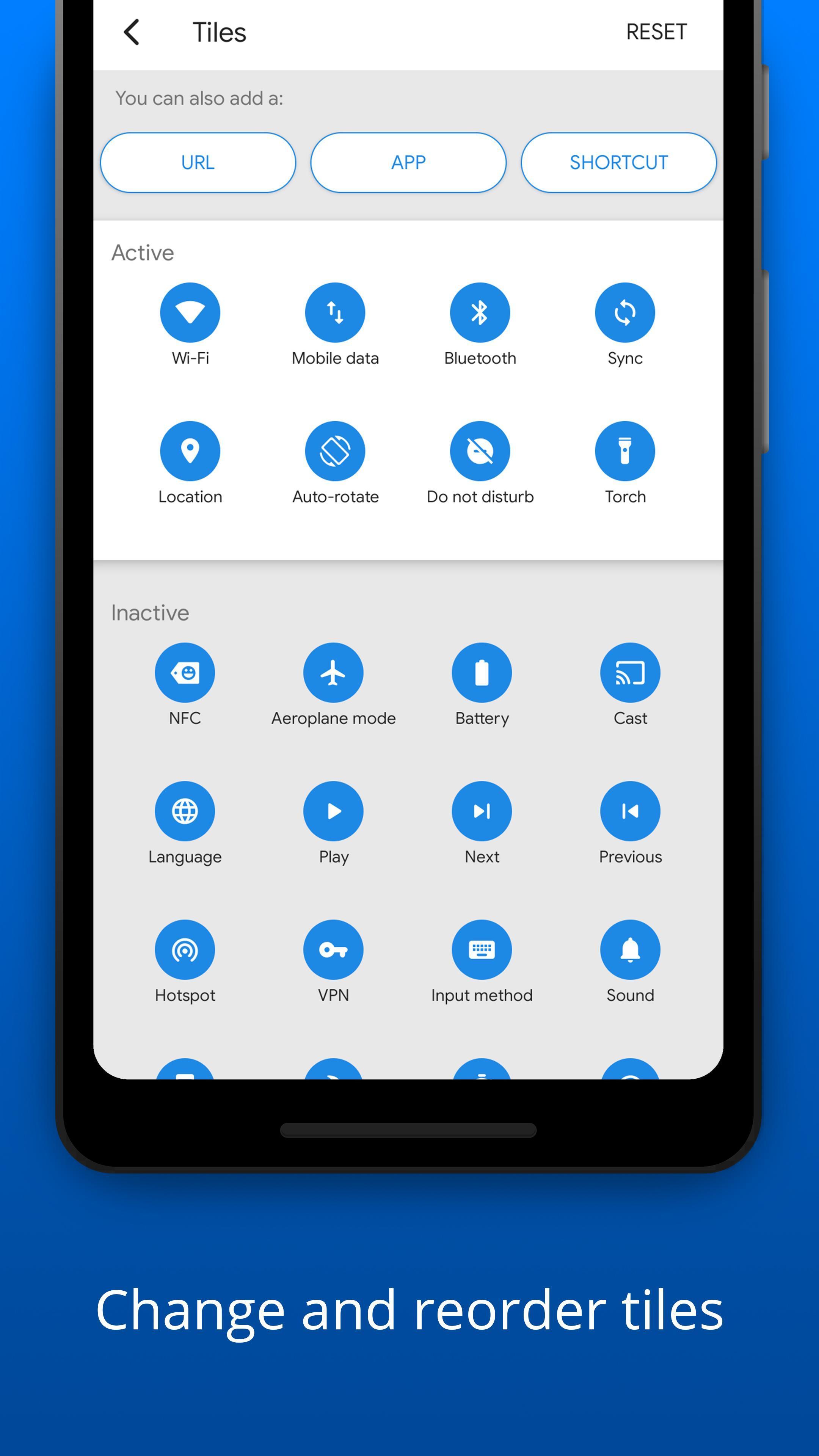 Bottom Quick Settings Notification Customization 5.1.2 Screenshot 22