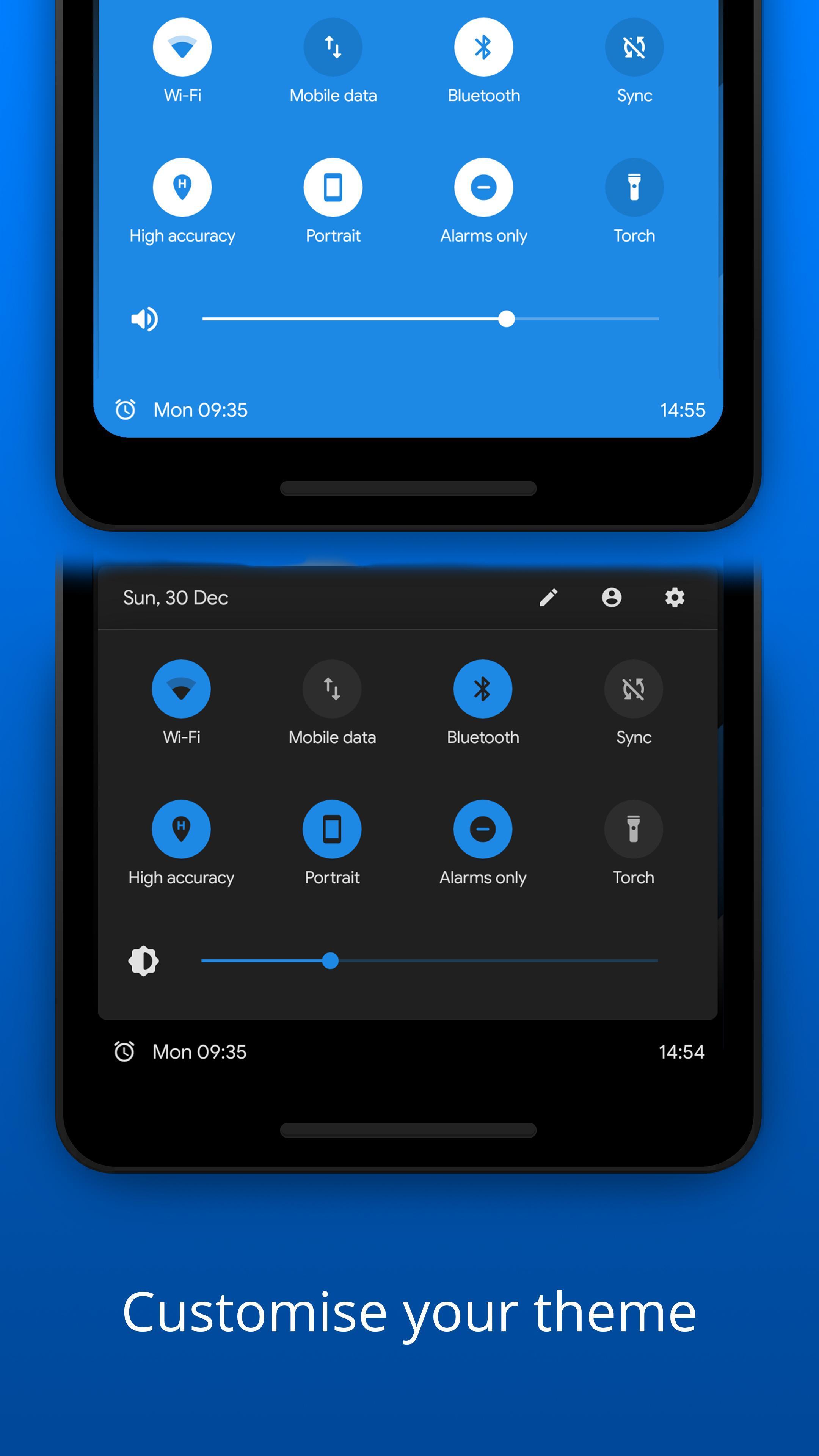 Bottom Quick Settings Notification Customization 5.1.2 Screenshot 3