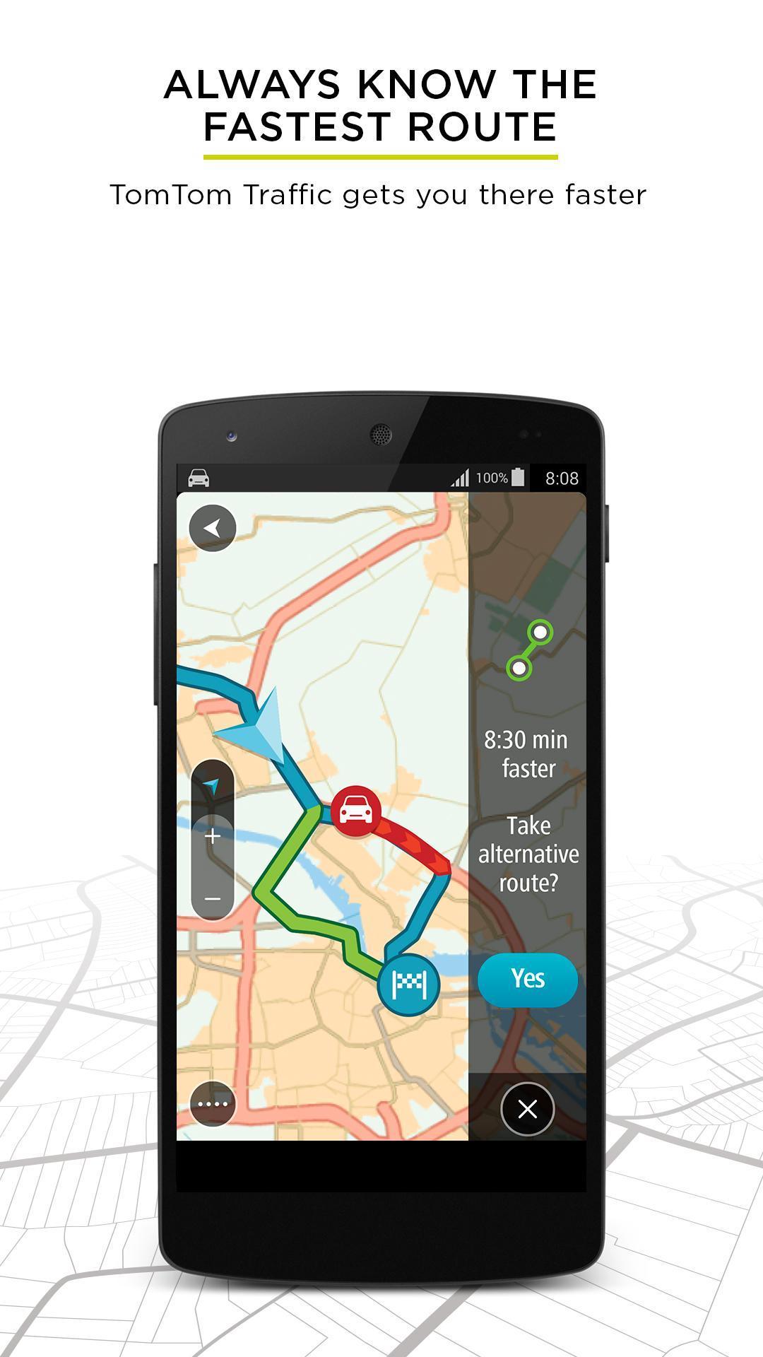 TomTom GPS Navigation - Live Traffic Alerts & Maps 2.0.4 Screenshot 1