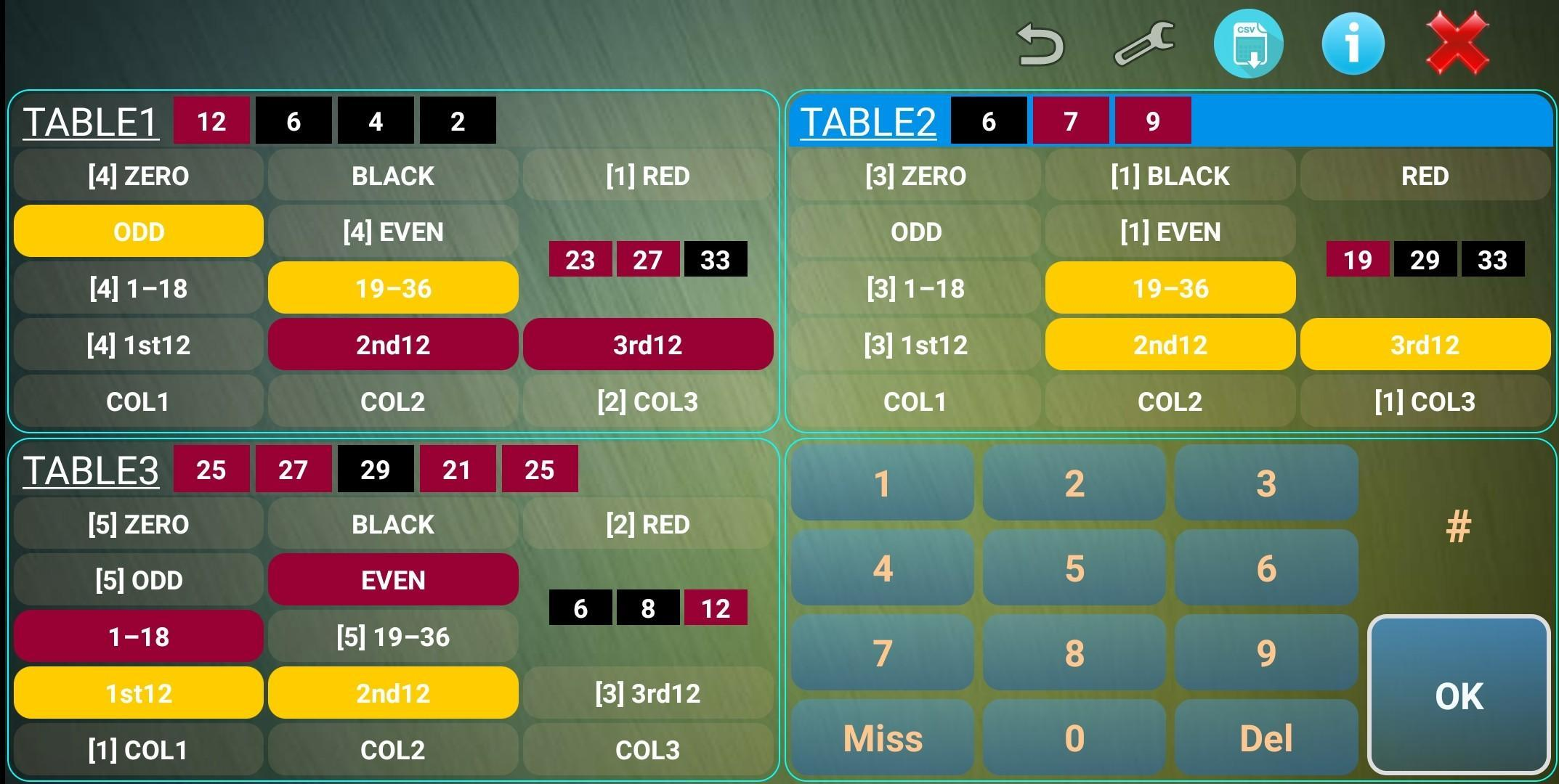 Multi Roulette Counter Predictor up to three table 2.0 Screenshot 1