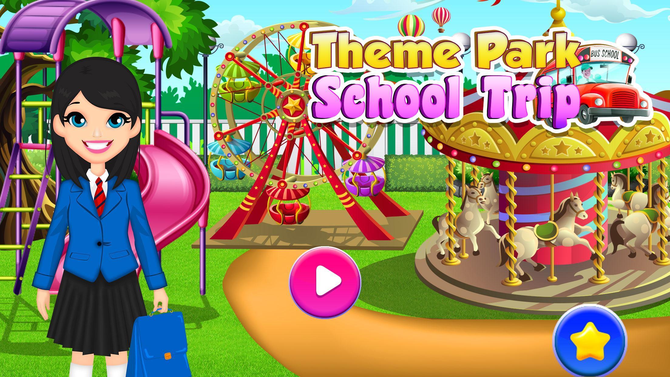 Theme Park School Trip Summer Picnic Adventure 1.0.5 Screenshot 1