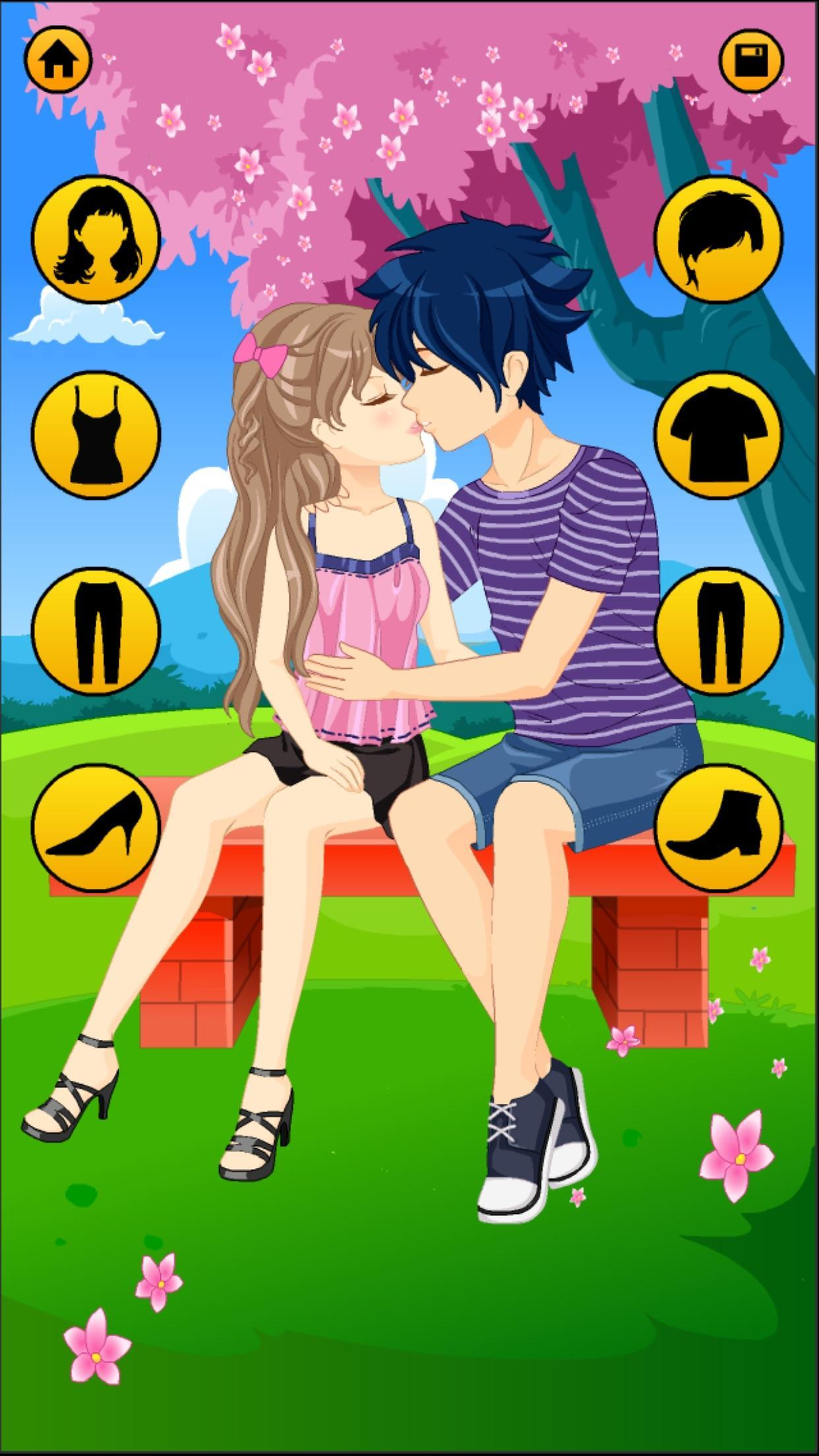 Anime Dress Up Games For Girls - Couple Love Kiss 3.3 Screenshot 21
