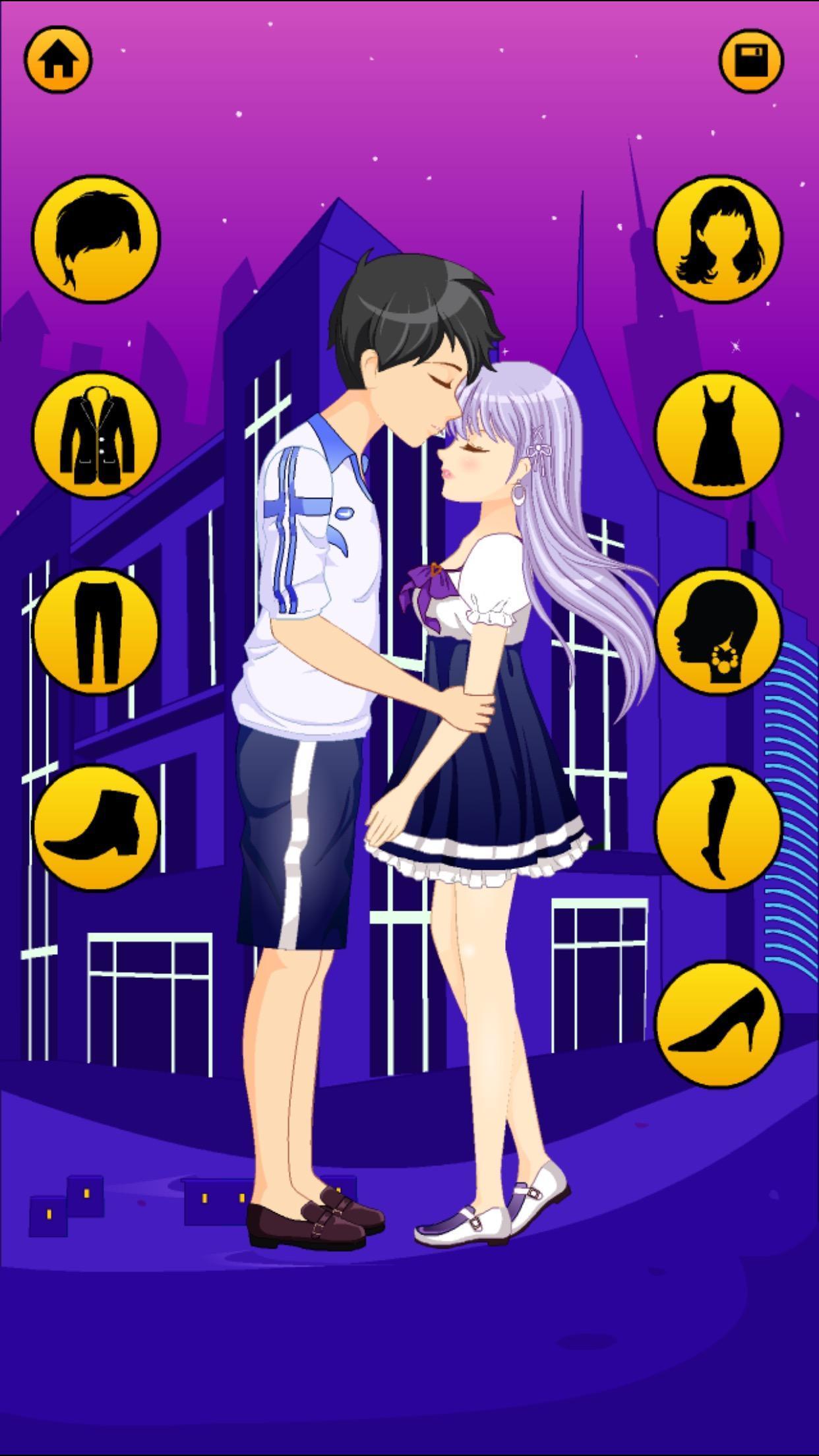 Anime Dress Up Games For Girls - Couple Love Kiss 3.3 Screenshot 3