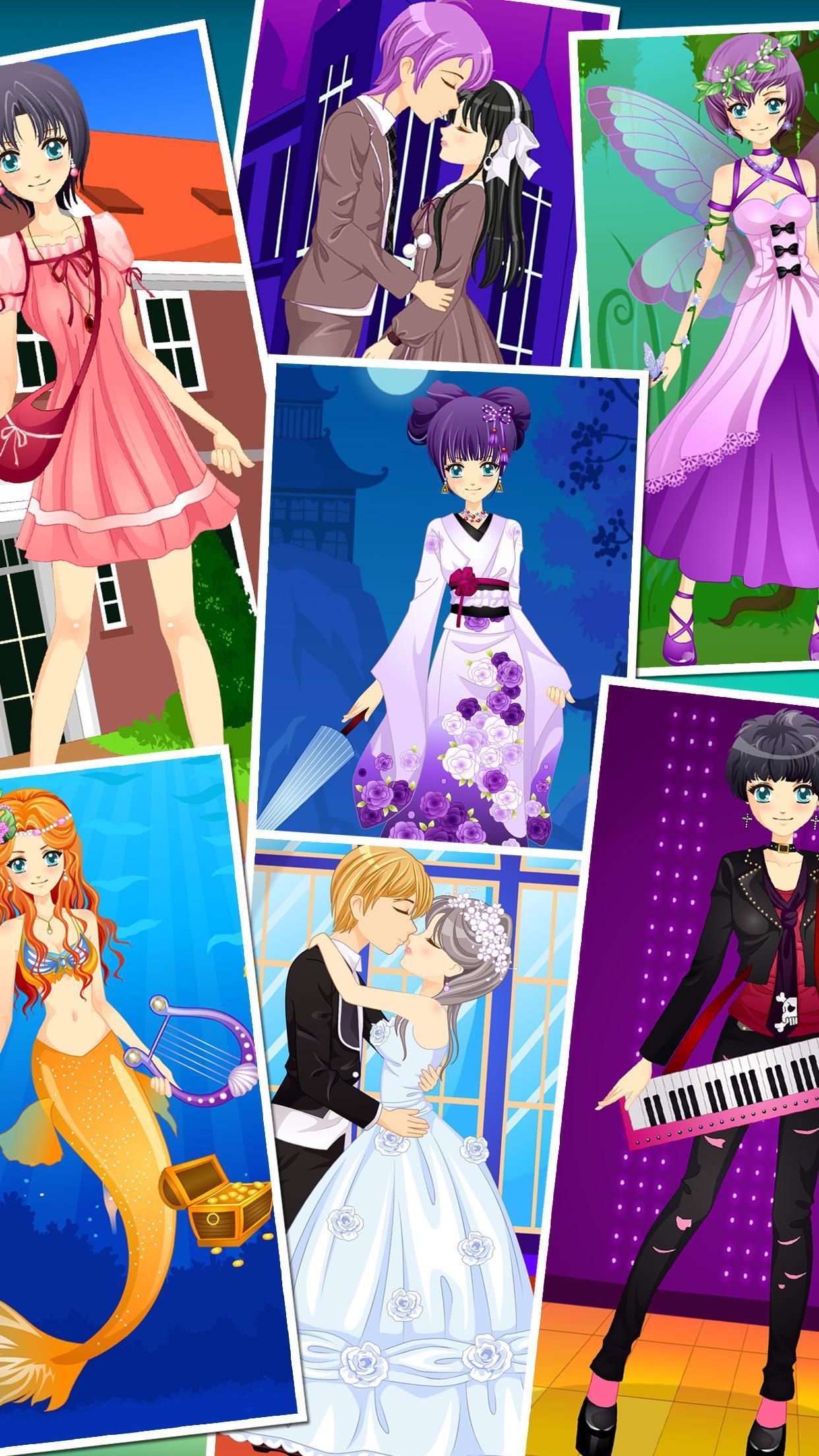 Anime Dress Up Games For Girls - Couple Love Kiss 3.3 Screenshot 9