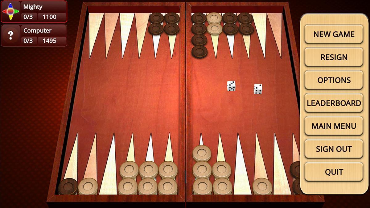 Backgammon Mighty 2.27 Screenshot 2