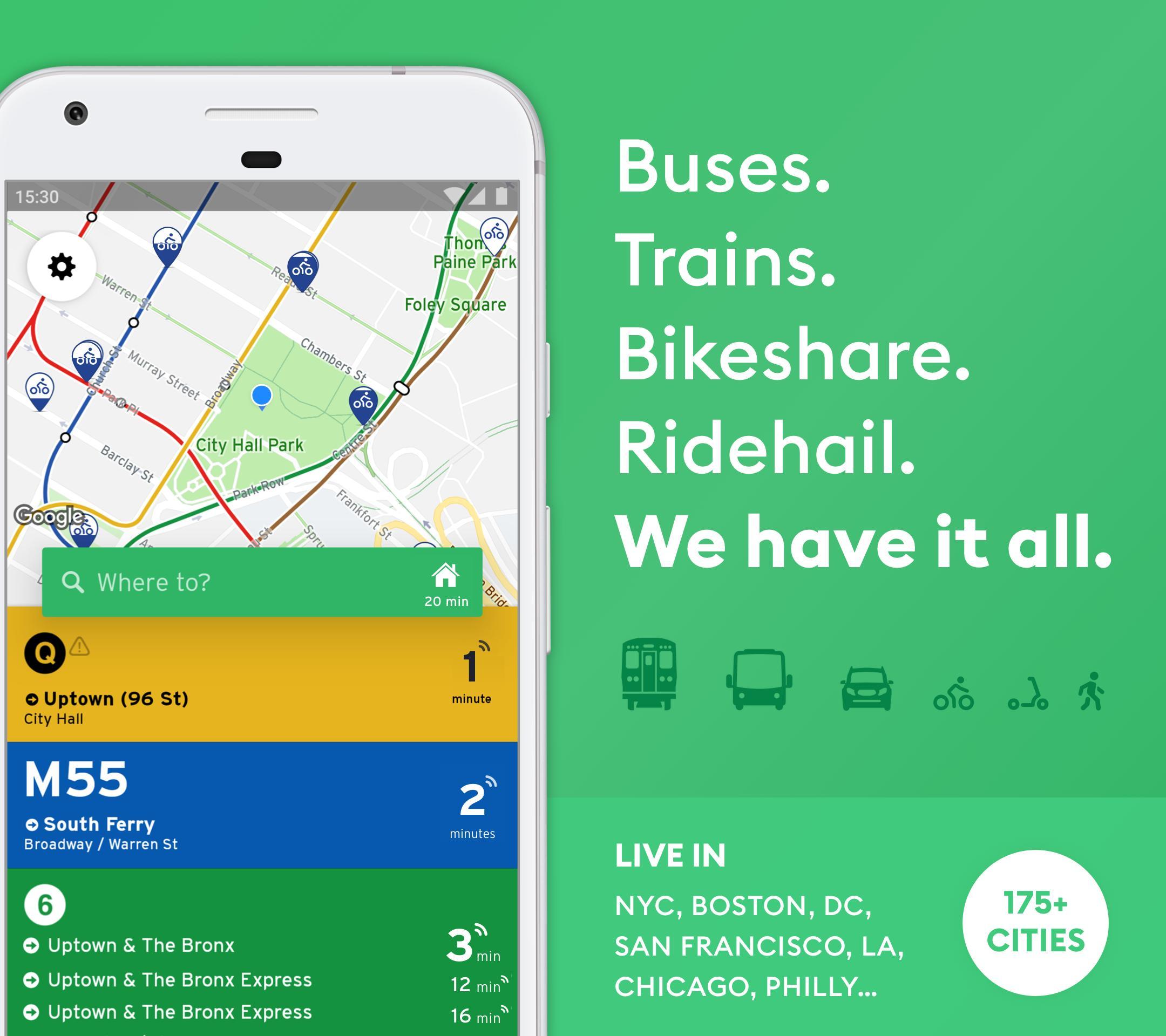 Transit • Bus & Subway Times 5.6.4 Screenshot 1