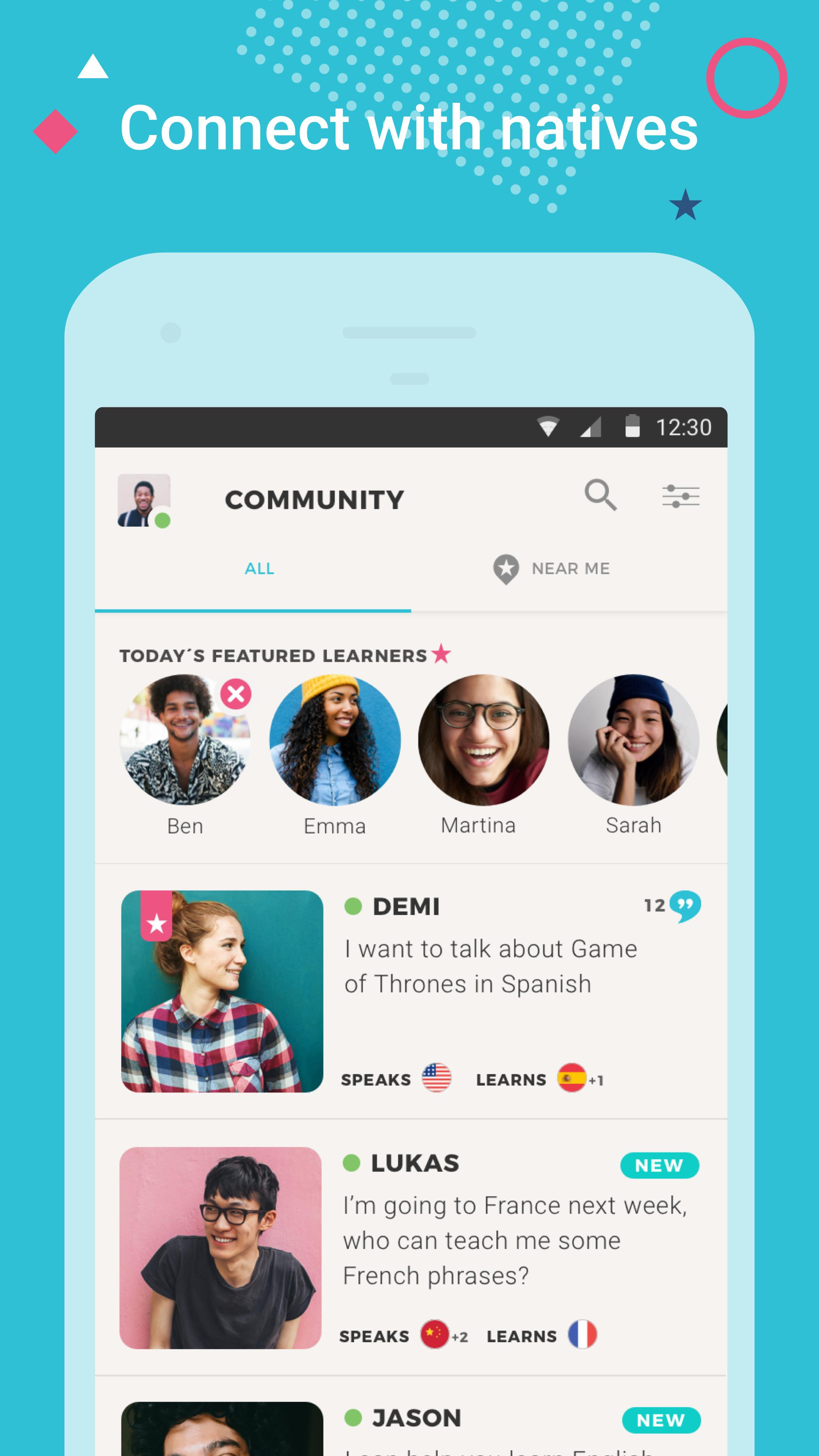 Tandem Language Exchange: Speak & learn languages 2.1.3 Screenshot 1
