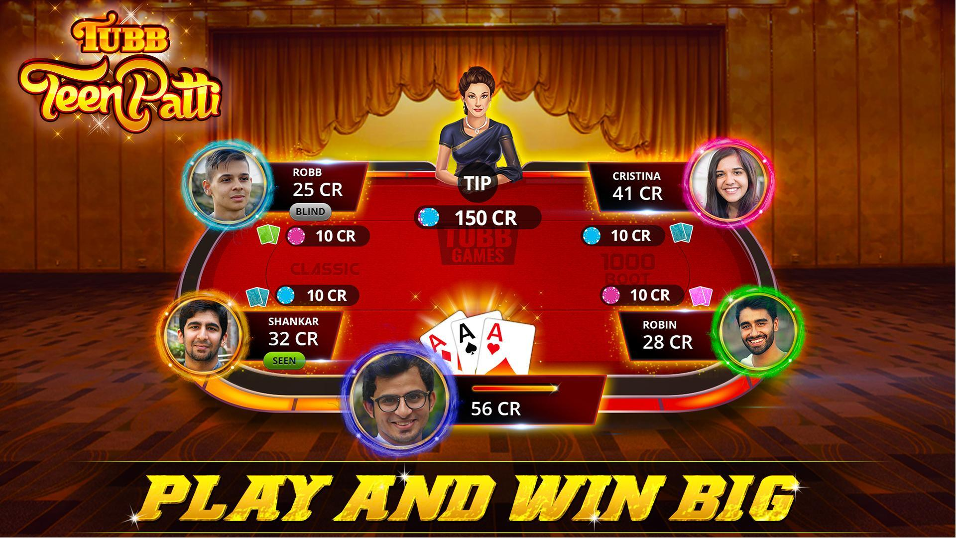 Tubb Teen Patti - Indian Poker - TTP 3.7 Screenshot 1