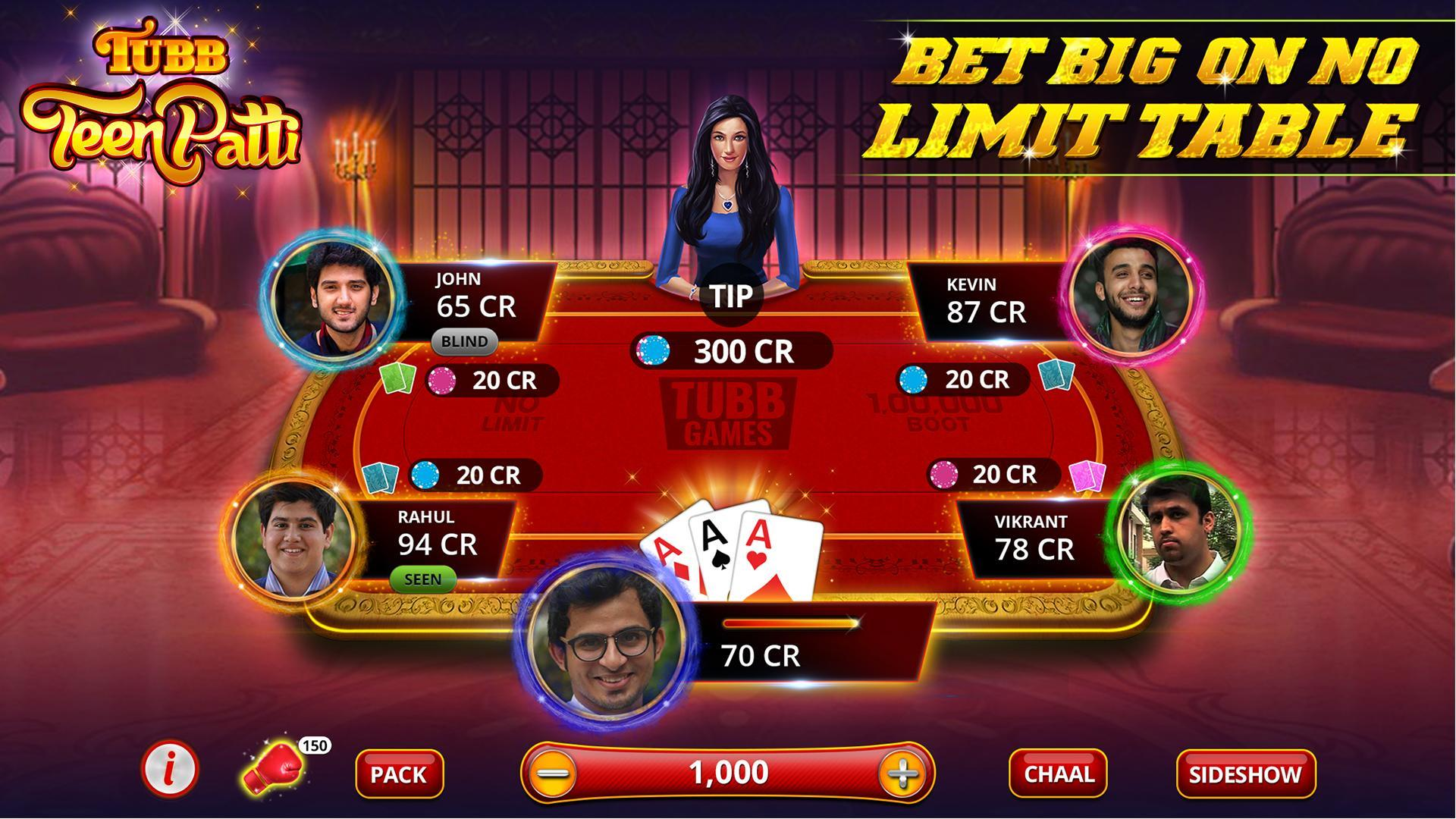 Tubb Teen Patti - Indian Poker - TTP 3.7 Screenshot 3