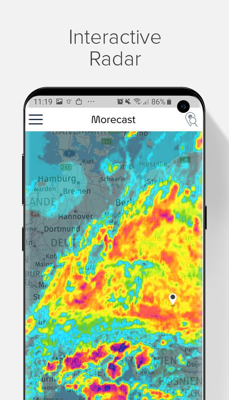 Weather Forecast, Radar & Widgets - Morecast 4.0.24 Screenshot 1