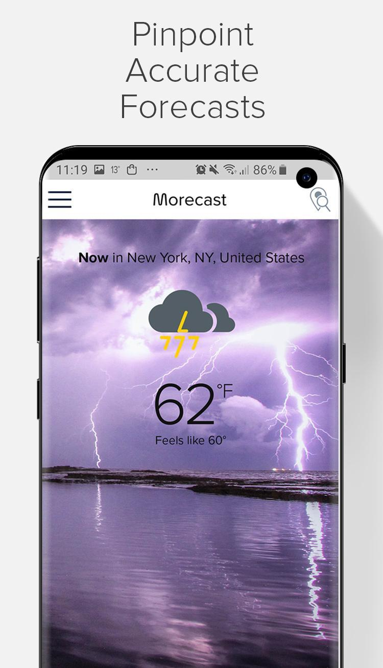 Weather Forecast, Radar & Widgets - Morecast 4.0.24 Screenshot 2