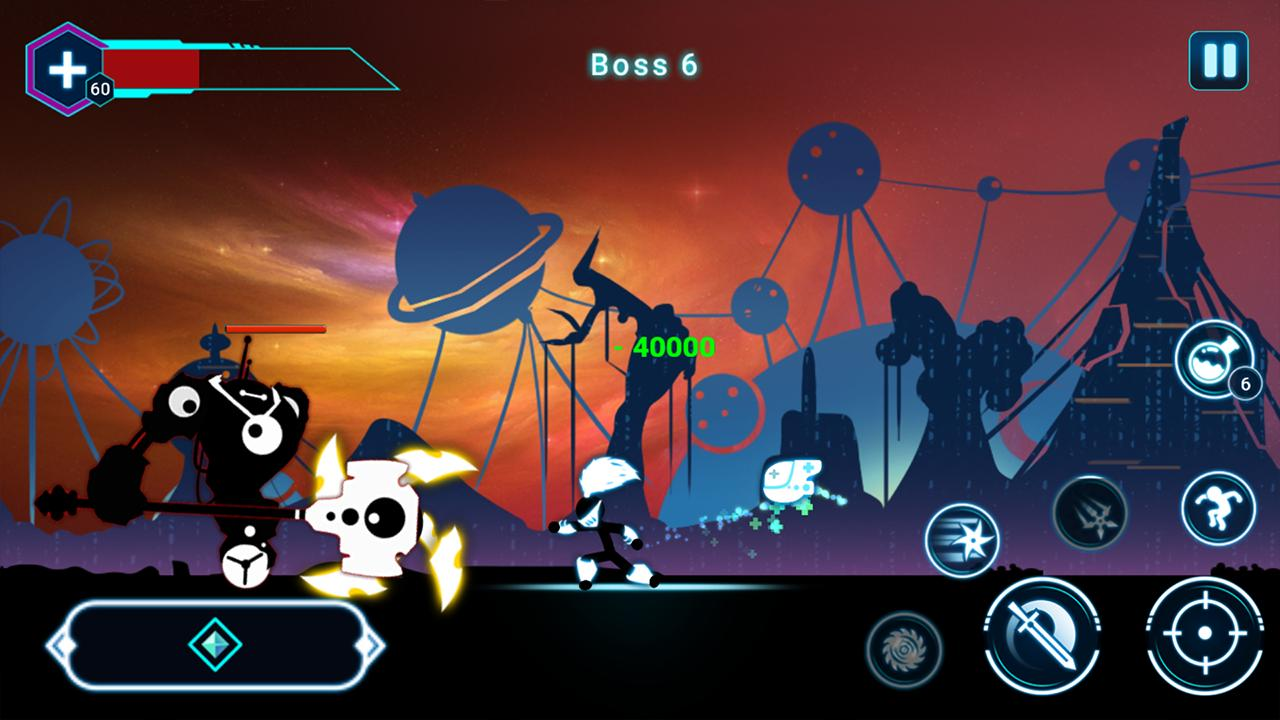 Stickman Ghost 2 Galaxy Wars - Shadow Action RPG 6.6 Screenshot 4