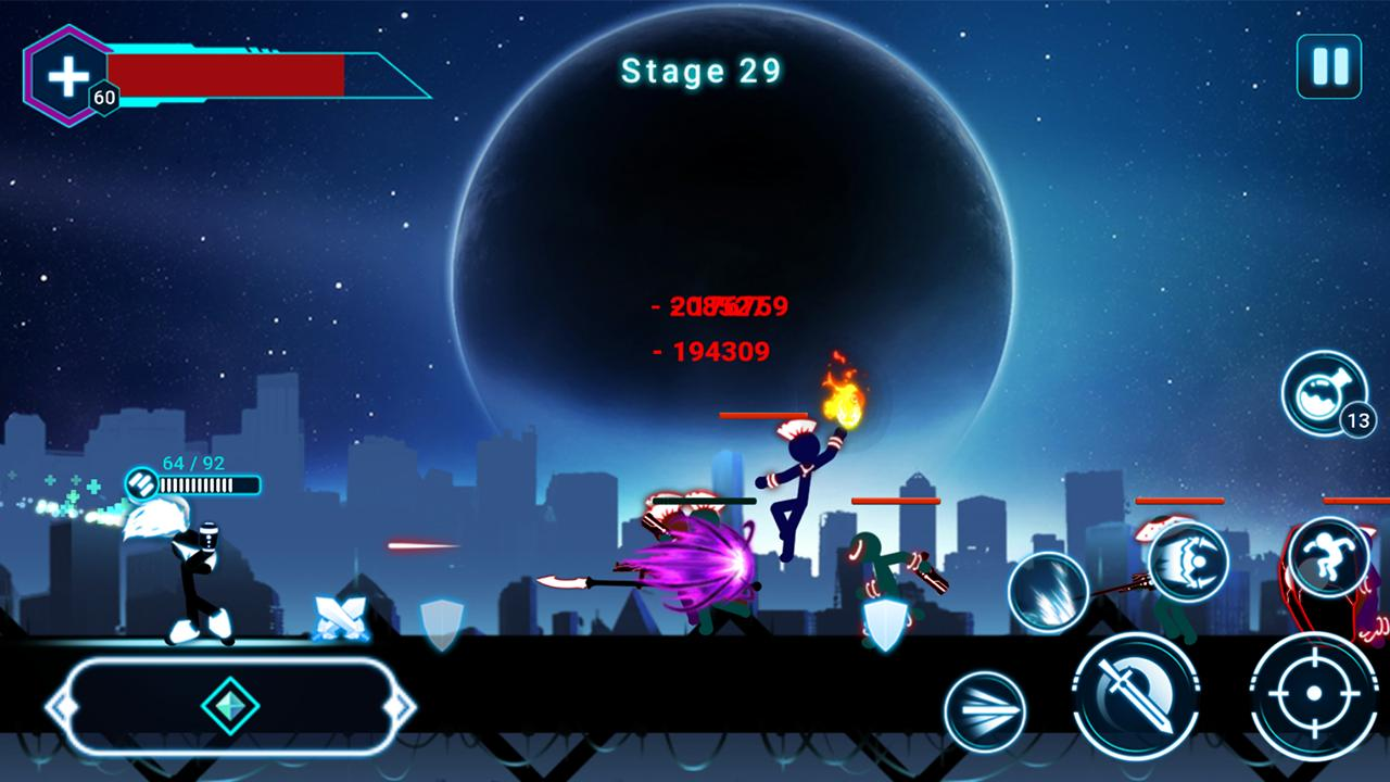 Stickman Ghost 2 Galaxy Wars - Shadow Action RPG 6.6 Screenshot 5
