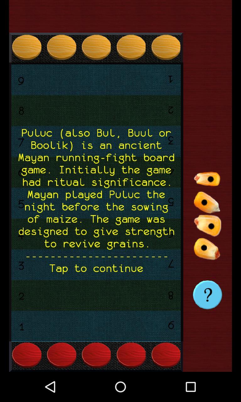 Puluc Mayan running-fight board game 1.9.2 Screenshot 2