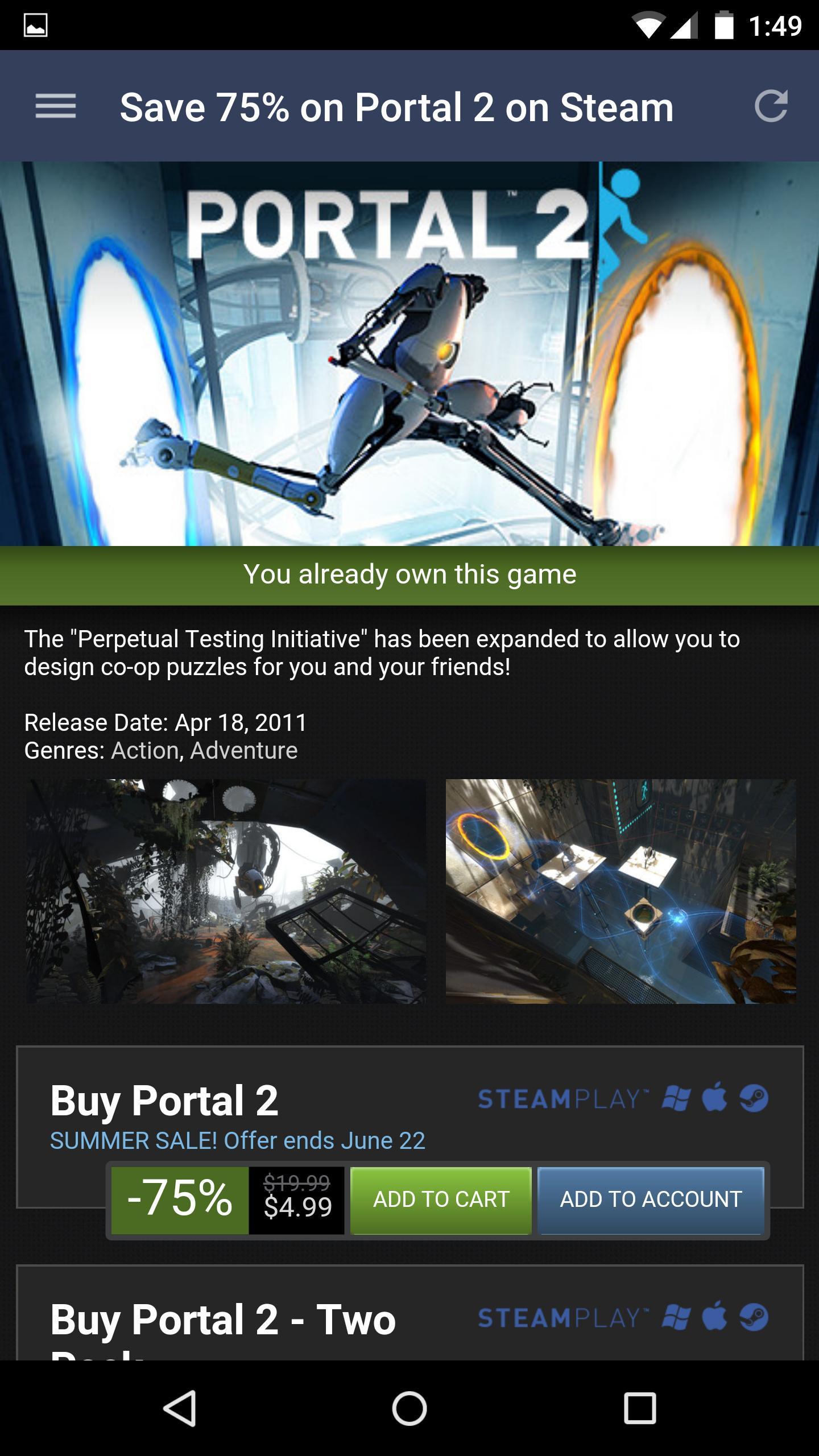 Steam 2.3.11 Screenshot 3